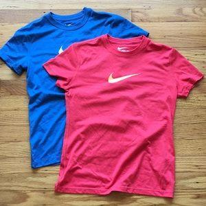 2 Nike Dri-fit Tees, Size M